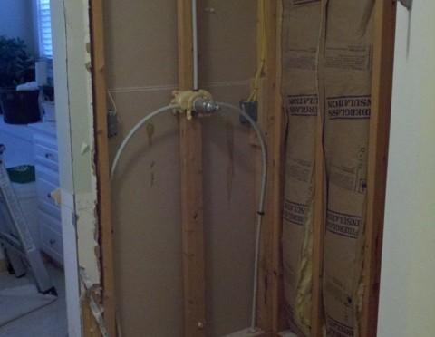 Removing A Fiberglass Shower Stall Gary S Fix