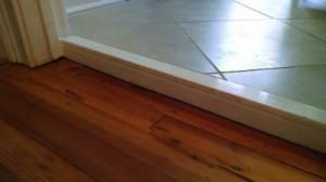 Uneven Tile To Wood Floor Transition Bathroom Furniture Ideas