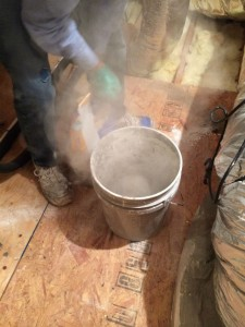 Mixing mortar is way dusty.