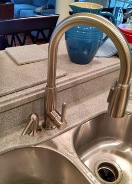 Overzealous kitchen faucet sprayer