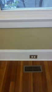leaky floor molding